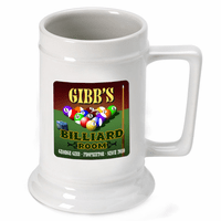 Billiards Room German Beer Stein - Discontinued