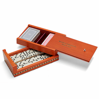 Birch Wood Personalized Playing Card/Domino Set - Discontinued