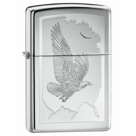 Birds of Prey High Polish Chrome Zippo Lighter - Discontinued