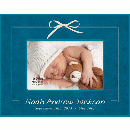 "Birth Announcement Personalized 4"" x 6"" Picture Frame"