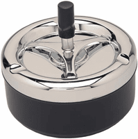 Black and Silver Tone Spinning Ashtray