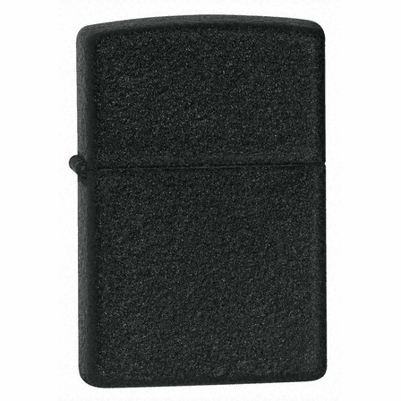 Black Crackle Zippo Lighter - ID# 236