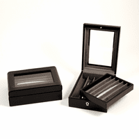 Black Croco Leather Pen Box