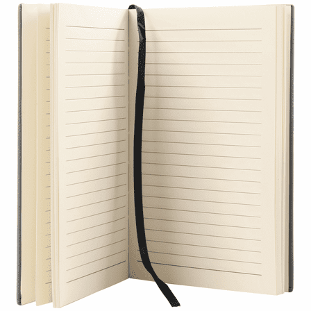 Black & Gold Journal with Black Satin Bookmark with Personalized Initials