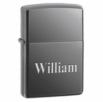 Black Ice Engraved Zippo Lighter - Free Engraving - ID# 150