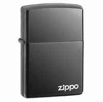 Black Ice with Zippo Logo Zippo Lighter - ID# 150ZL