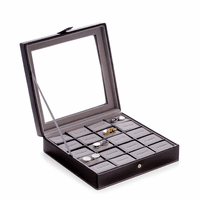 Black  Leather Cufflinks Box