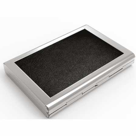 Black Leather Engraved Business Card Case