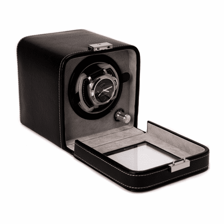 Black Leather Single Watch Winder