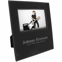 """Black & Silver 4"""" x 6"""" Picture Frame with Large Personalization Area"""
