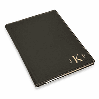Black Small Portfolio & Notebook with Roman Monogram