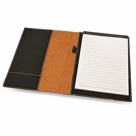 Black Small Portfolio & Notebook with Script Monogram