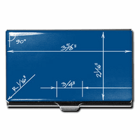 """Blueprint"" Business Card Case"