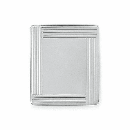 Border Collection Sterling Silver Engravable Tie Tack