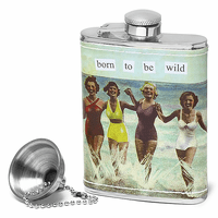 Born To Be Wild Flask by Anne Taintor - Discontinued