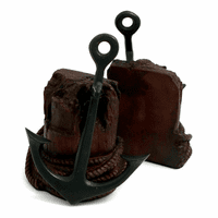 Brass Anchor Patina Finish Bookends
