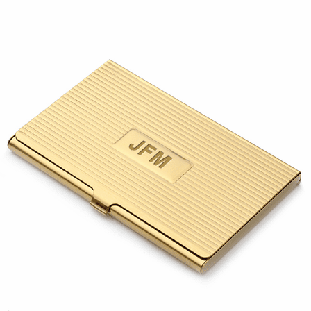 new style f43a0 214c8 Brass Engraved Business Card Case