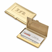 Brass Frame Style Engraved Business Card Holder