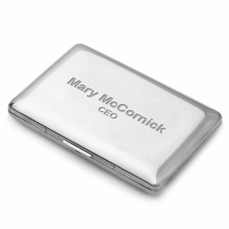Briefcase Style Engraved Business Card Holder