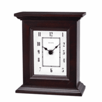 Bristol Espresso Table Top Clock by Bulova
