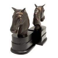 Bronzed Horse Head Bookends