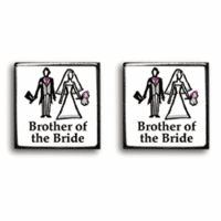 Brother of the Bride Contemporary  Wedding Cufflinks