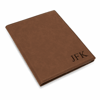 Brown Portfolio & Notebook with Personalized Initials