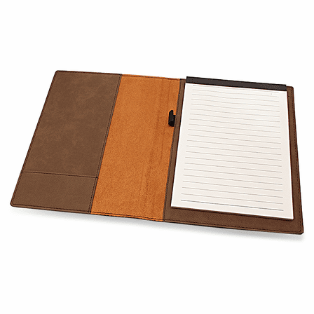 Brown Portfolio & Notebook with Roman Monogram