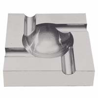 Brushed Aluminum Four Cigar Ashtray - Discontinued