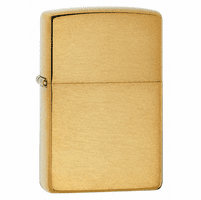 Brushed Brass Zippo Lighter - ID# 204B