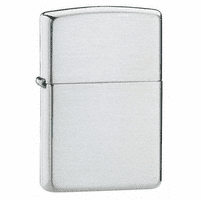 Brushed Finish Sterling Silver Zippo Lighter - ID# 13