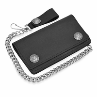 Buffalo Nickel Biker Wallet with Chain