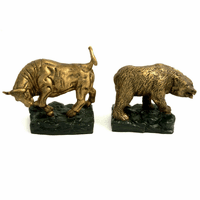 Bull & Bear Brass Bookends