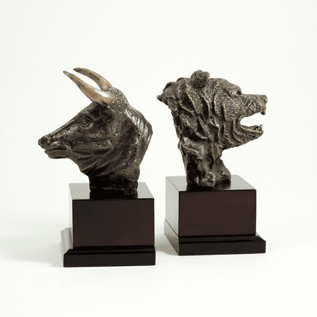 Bull & Bear Bronzed Bookends