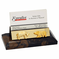Bull & Bear Desktop Business Card Holder