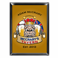 Bulldog Tavern Pub Sign - Free Personalization