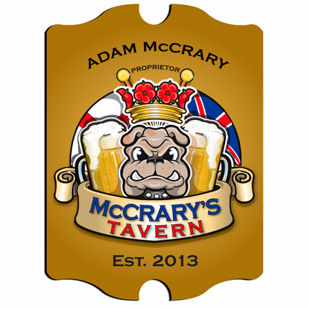 Bulldog Tavern Vintage Pub Sign - Free Personalization