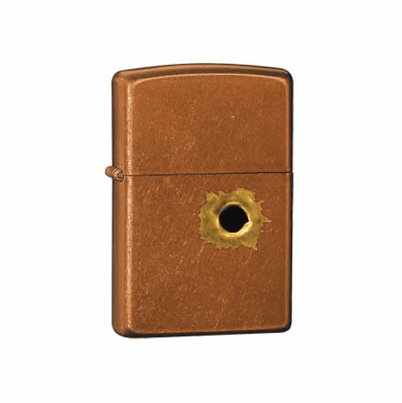 Bullethole Toffee Zippo Lighter - ID# 24717 - Discontinued