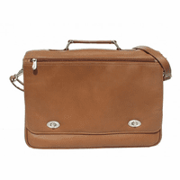 Business Flap Briefcase by Piel Leather - Free Personalization - Discontinued