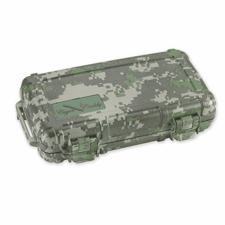 Camouflage Five Cigar Caddy Travel Humidor