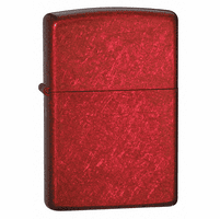 Candy Apple Red Finish Zippo Lighter - Free Engraving - ID# 21063