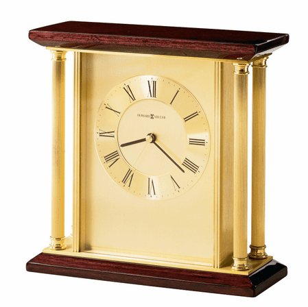 Carlton Rosewood Hall and Brass Table Clock by Howard Miller