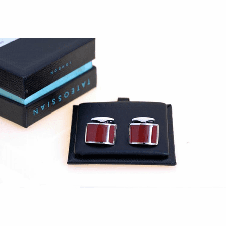 Carnelian Cresent Collection Cufflinks by Tateossian - Discontinued