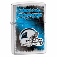 Carolina Panthers NFL Brushed Chrome Zippo Lighter - ID# 28603