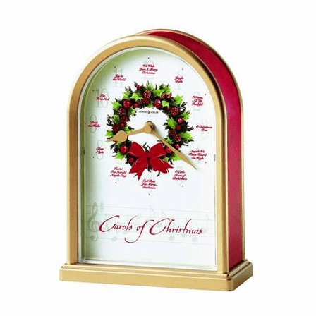 Carols of Christmas II Tabletop Clock by Howard Miller