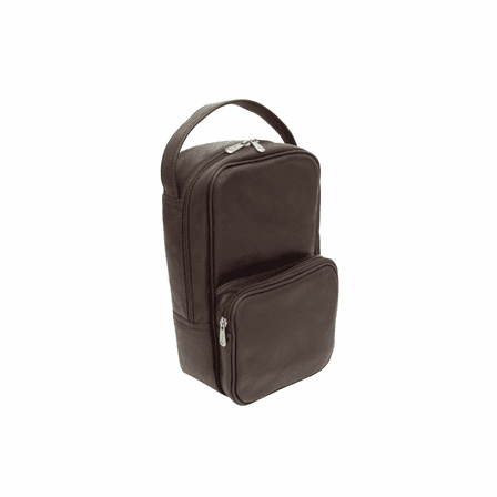 Carry All Vertical Leather Golf Shoe Bag