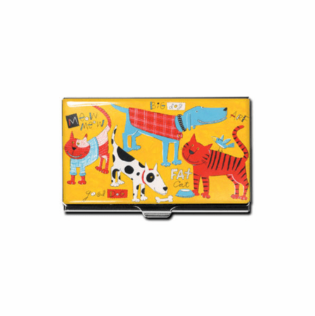 """Cats & Dogs"" Business Card Case"