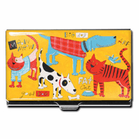 """Cats & Dogs"" Business Card Case - Discontinued"