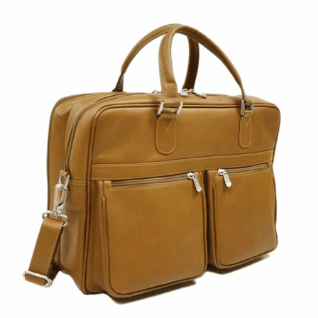 Checkpoint Friendly Laptop Briefcase/Overnighter by Piel Leather - Free Personalization