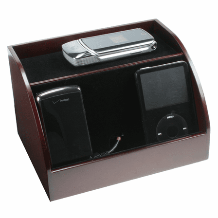 Cherrywood Finish PDA Charging Station